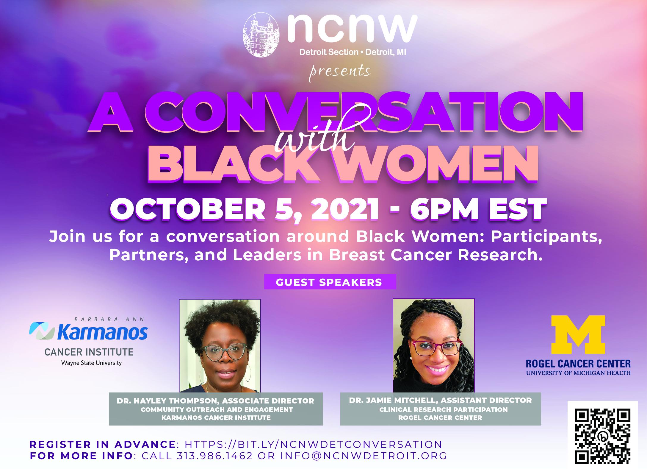2021 DET NCNW Breast Cancer Awarness - A Conversation 2