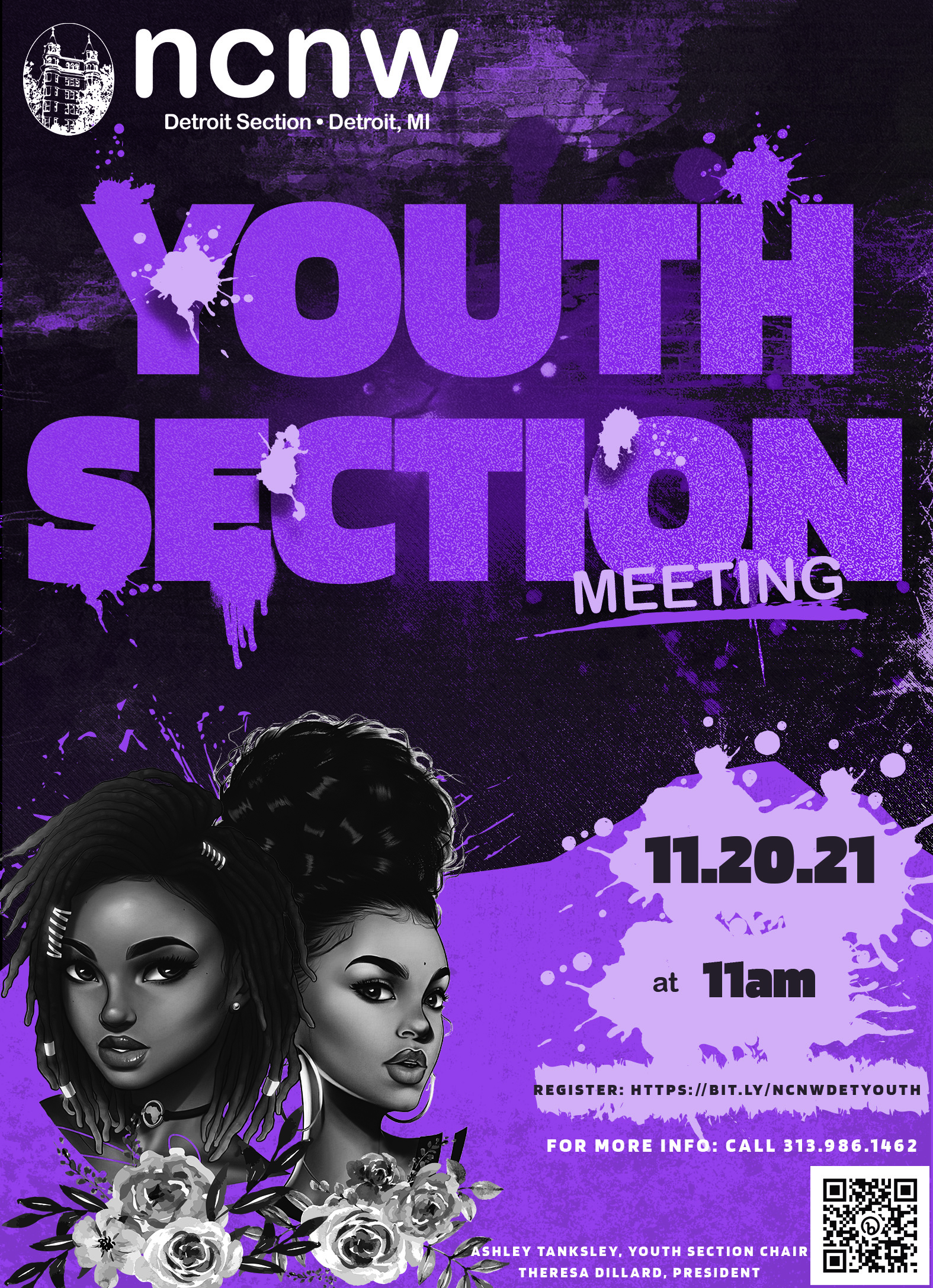 2021 NCNW DET Youth Section Meeting Flyer